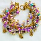Four Leaf Clover Purple Cha Cha Lucky Charm Bracelet