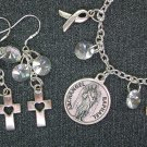 Archangel St. Raphael Medal Healing Charm Bracelet Earrings