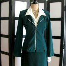 DBY dark green blazer jacket skirt suit set size 5/6 & 9/10