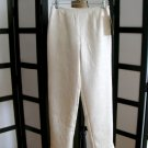 Allison Taylor Nights off white swirl sheen pants size 4