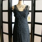 Esprit de corp black floral velour empire dress size 7/8