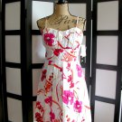 Snap orange pink white floral empire spaghetti strap dress 11 junior