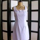 Rag light purple square neck satin neckline sheath dress size 7