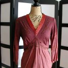 Millennium maroon baby doll 3/4 sleeve ombre top small
