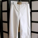 Apostrophe stretch career white capris crop pants size 2