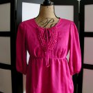 Apostrophe hot pink fuchsia empire 3/4 sleeve top size small