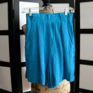 Tarazzia rayon gauze aqua blue shorts medium