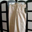 Daisy Fuentes khaki brown crop capris pants 6 petite