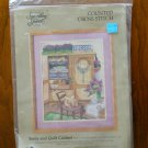 Something Special Teddy and Quilt Cabinet counted cross stitch kit 50417