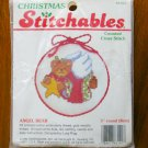 Dimensions Christmas Stitchables Angel Bear cross stitch kit jingle bell santa ornament