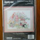 Janlynn Garden Bench Flower Cat Counted Cross Stitch Kit # 125-87