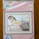 From the Heart Antique Rocking Hobby Horse No Count Cross Stitch Kit # 53905