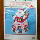 Bucilla Santa and Elves candy dish dispenser plastic canvas kit # 61139