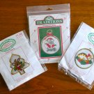 Christmas Cat Mouse Reindeer counted cross stitch kit ornament lot of 3
