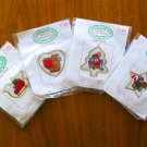 Santa's Workbench Christmas bear counted cross stitch kit ornament lot of 4