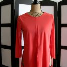 Carmen Marc Valvo orange peach chiffon 3/4 sleeve top XS