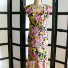Speechless pink flower black floral empire ruffle dress size 5