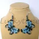 Light Blue Butterfly Plastic Canvas Earrings