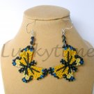 Yellow Butterfly Plastic Canvas Earrings Tiger Swallowtail
