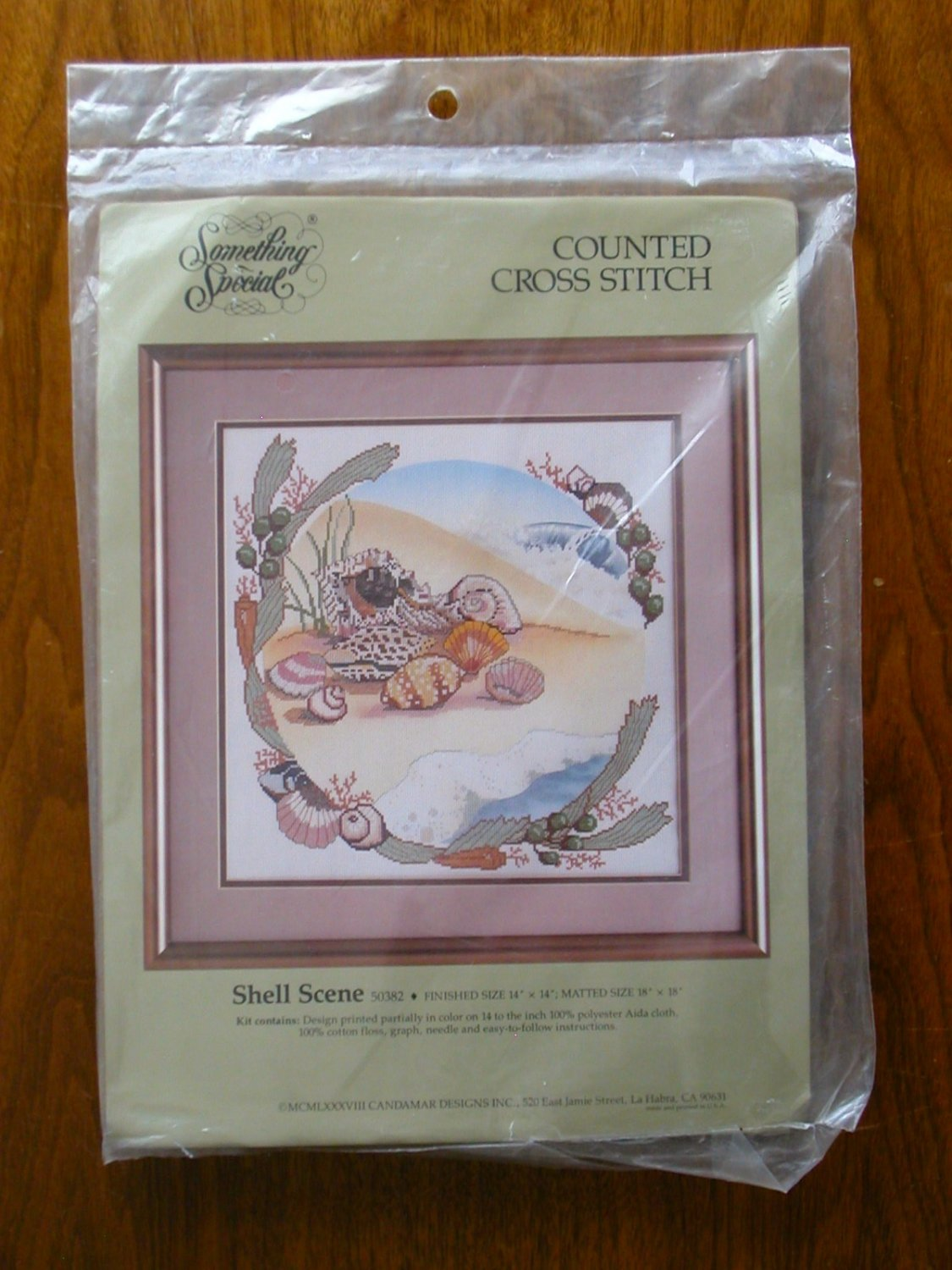 Something Special Shell Scene beach seashells counted cross stitch kit 50382