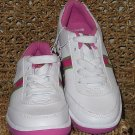 Ralph Lauren Girls White Fuschia Shoes Size 3 NEW!!
