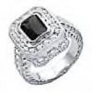 SWAROVSKI Black Ring...NEW SZ 9