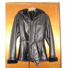 Wilsons Leather Hooded Faux-Shearling Leather Jacket/Coat - X-Small