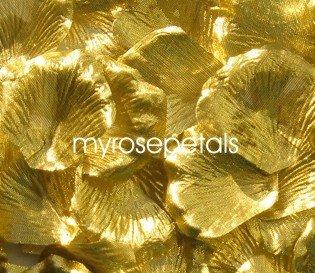 Petals - 1000 Silk Rose Petals Wedding Favors - Solid Colors - Gold