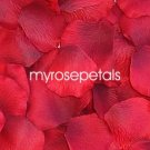 Petals - 1000 Silk Rose Petals Wedding Favors - Solid Colors - Red