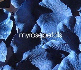 Petals - 1000 Silk Rose Petals Wedding Favors - Solid Colors - Royal Blue