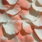 Petals - 1000 Silk Rose Petals Wedding Favors -  Two Tone - Ivory/Peach