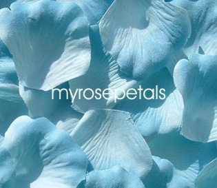 Petals - 1000 Silk Rose Petals Wedding Favors -  Two Tone - Light/Dark Blue