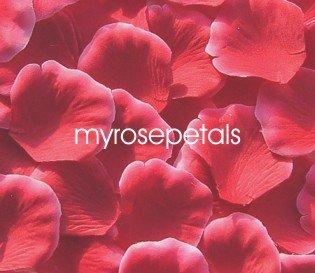 Petals - 1000 Silk Rose Petals Wedding Favors -  Two Tone - Red/White