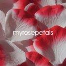 Petals - 1000 Silk Rose Petals Wedding Favors -  Two Tone - White/Red