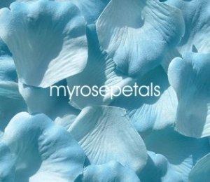 Petals - 200 Silk Rose Petals Wedding Favors -  Two Tone - Light/Dark Blue