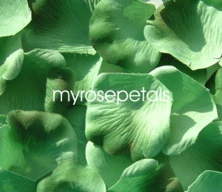 Petals - 200 Silk Rose Petals Wedding Favors -  Two Tone - Light/Dark Green