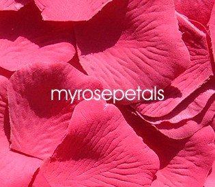 Petals - 200 Silk Rose Petals Wedding Favors - Solid Colors - Hot Pink