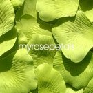 Petals - 200 Silk Rose Petals Wedding Favors - Solid Colors - Lime Green