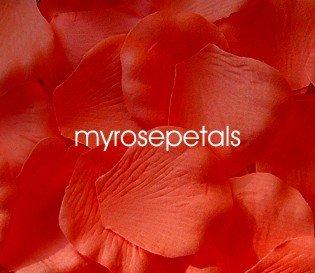 Petals - 200 Silk Rose Petals Wedding Favors - Solid Colors - Orange