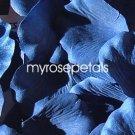 Petals - 200 Silk Rose Petals Wedding Favors - Solid Colors - Royal Blue