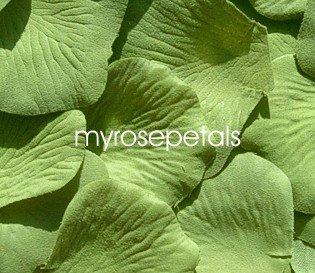 Petals - 200 Silk Rose Petals Wedding Favors - Solid Colors - Sage