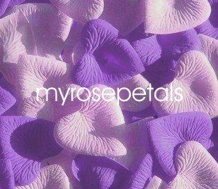 Petals - 1000 Heart Wedding Silk Rose Flower Petals Wedding Favors - Lavender & Pale Pink