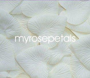 Petals - 200 Heart Wedding Silk Rose Flower Petals Wedding Favors - Ivory