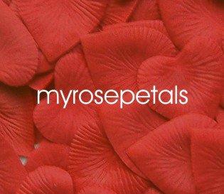 Petals - 200 Heart Wedding Silk Rose Flower Petals Wedding Favors - Red