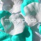 Petals - 200 Wedding Silk Rose Flower Petals Wedding Favors - Aqua & White