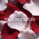 Petals - 200 Wedding Silk Rose Flower Petals Wedding Favors - Burgundy & Pale Pink