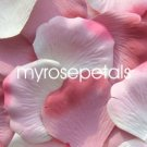 Petals - 200 Wedding Silk Rose Flower Petals Wedding Favors - Dusty Rose & White/Pink