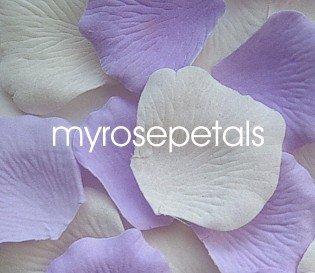 Petals - 200 Wedding Silk Rose Flower Petals Wedding Favors - Lavender & Ivory
