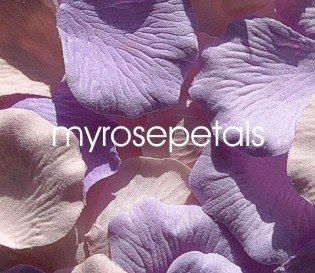 Petals - 200 Wedding Silk Rose Flower Petals Wedding Favors - Lavender & Pale Pink