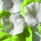 Petals - 200 Wedding Silk Rose Flower Petals Wedding Favors - Lime Green & White